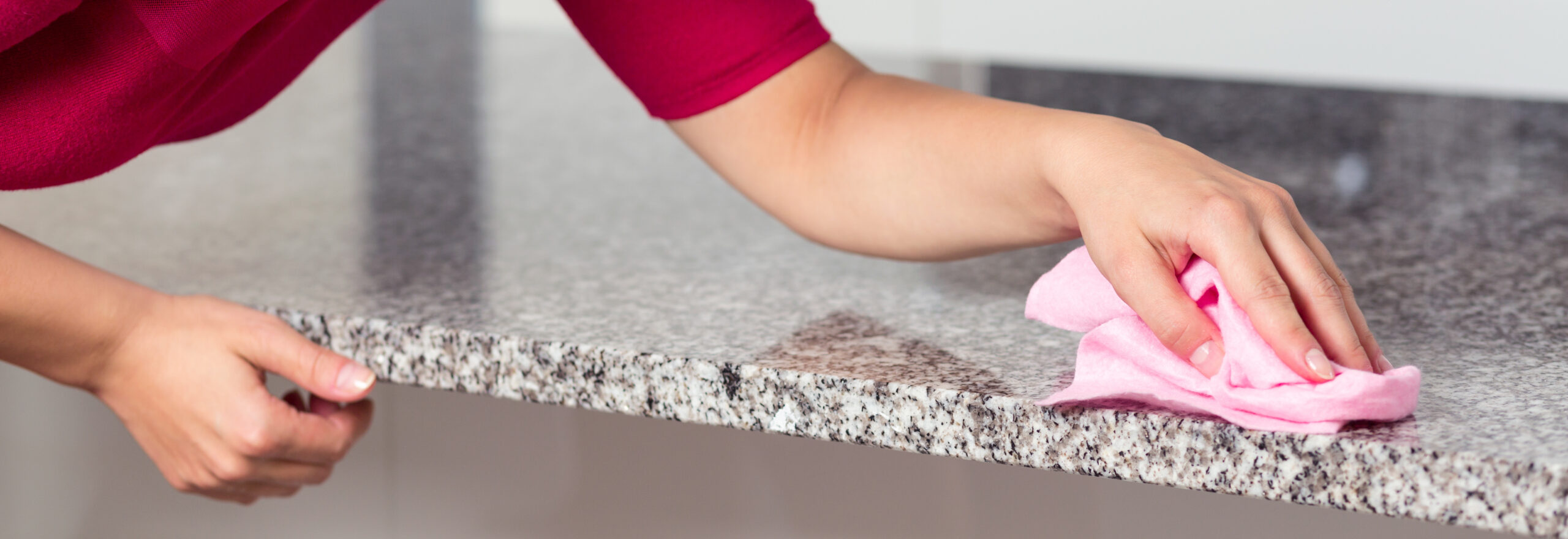 Cleaning a counter