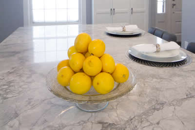 counter top with fruit
